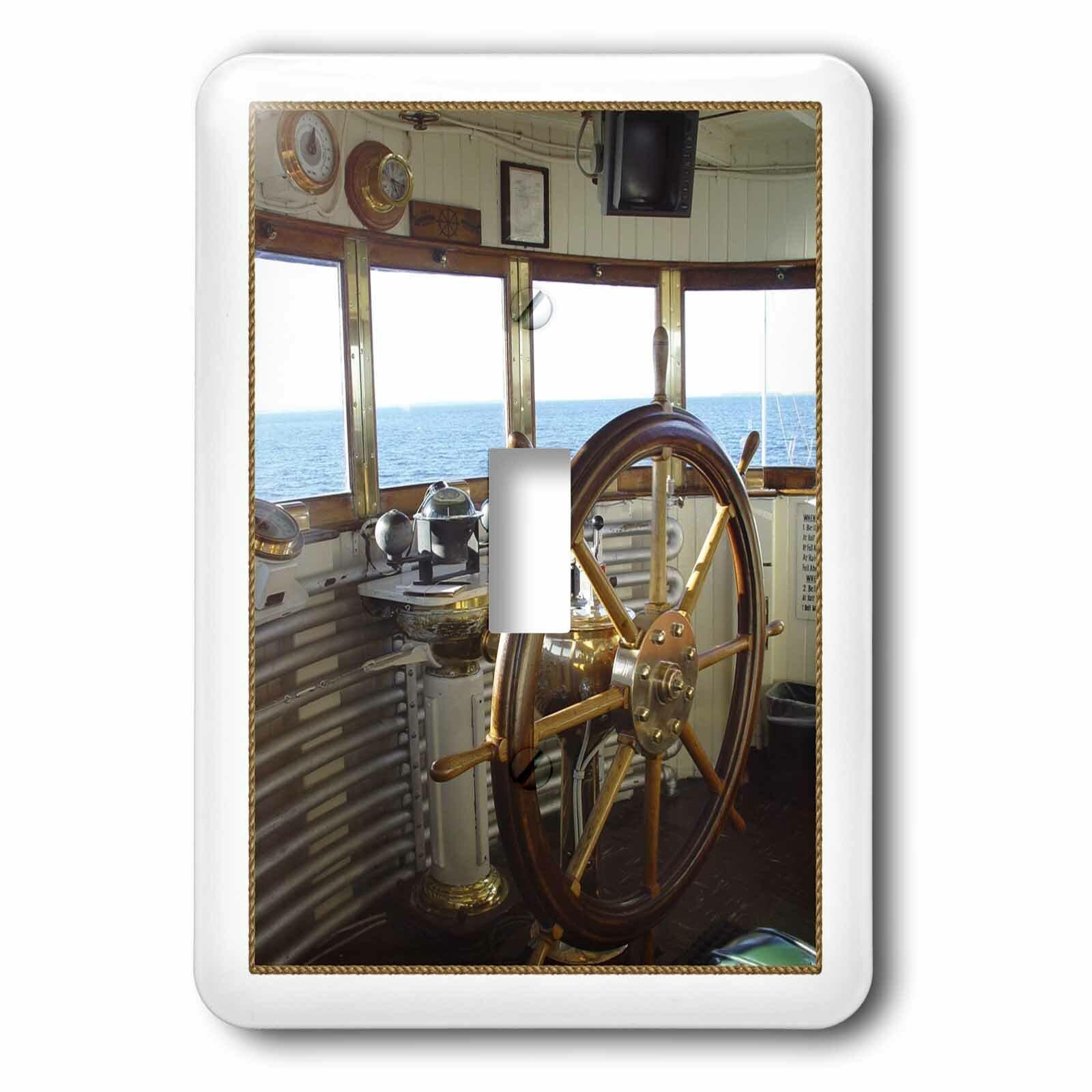 3drose Ships Wheel In Wheelhouse 1 Gang Toggle Light Switch Wall Plate Wayfair