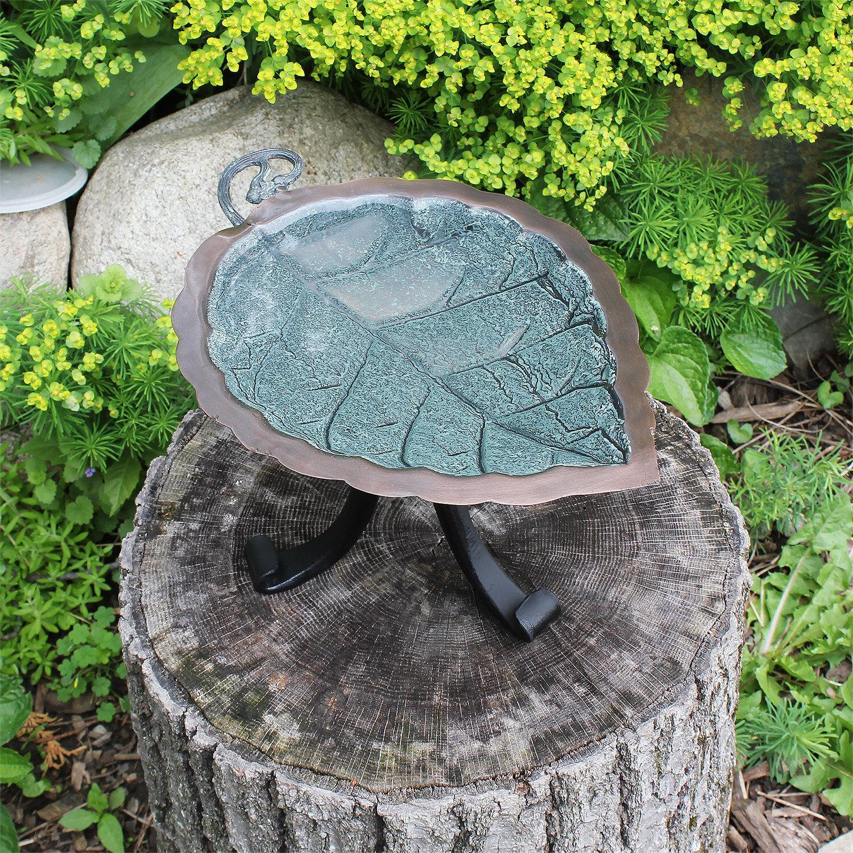 NEW Achla Designs Aspen Leaf Birdbath with Stake FREE SHIPPING