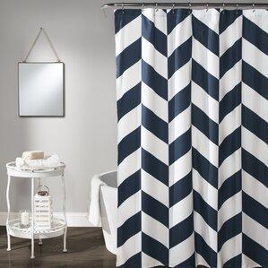 Silvia Chevron Shower Curtain