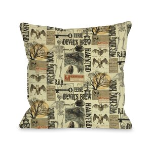All Hallows Eve Collage Throw Pillow
