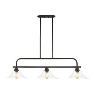 Laurel Foundry Modern Farmhouse Clayton 3-Light Kitchen Island Pendant