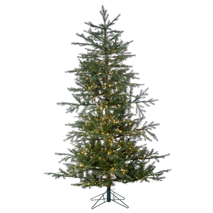 Artificial Christmas Tree Sizes.Led Natcut Portland Green Pine Artificial Christmas Tree With Colored And White Lights