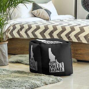 Home Sweet Idaho Cube Ottoman By East Urban Home