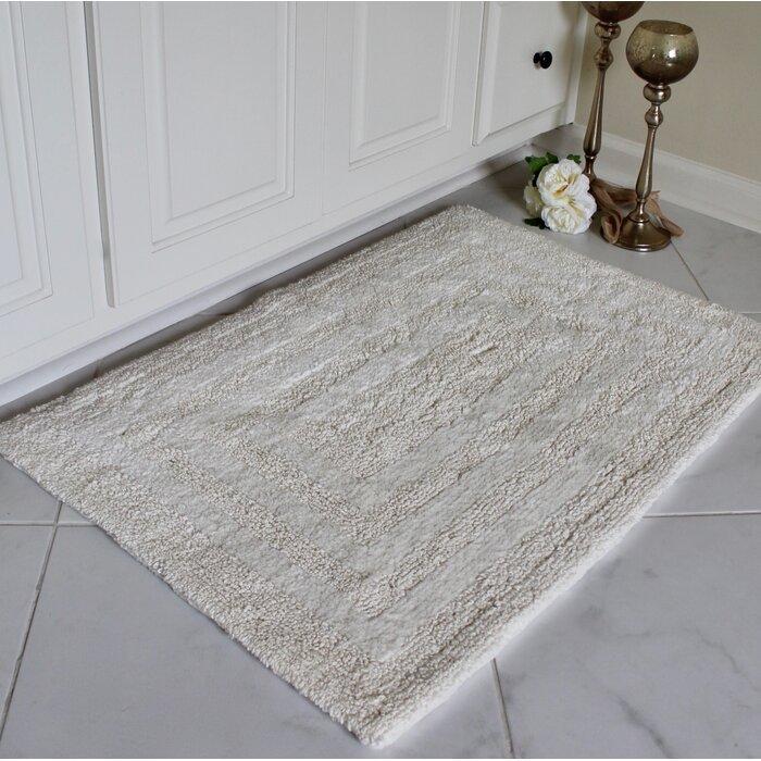 Kandra Reversible Cotton 2 Piece Bath Rug Set