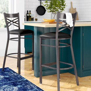 Aline 31 Metal Bar Stool (Set of 2) Zipcode Design