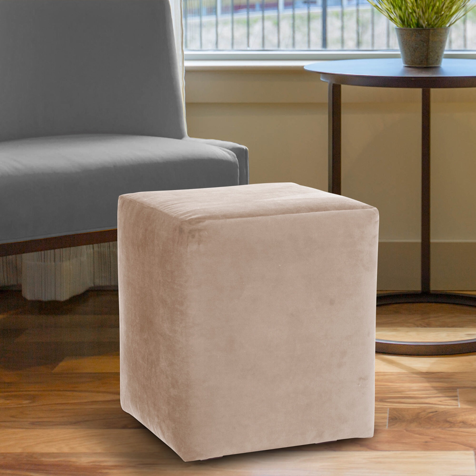 Latitude Run Josie 18 Polyester Square Solid Color Cube Ottoman Wayfair