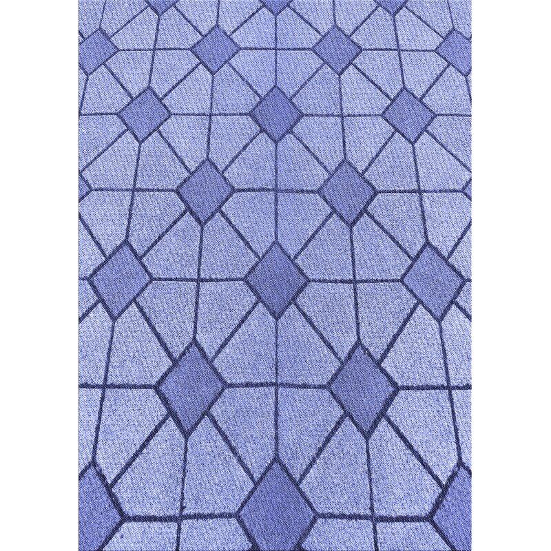 Corrigan Studio Losoya Geometric Wool Blue Area Rug Wayfair