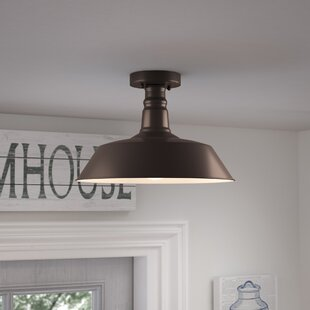 Laurel Foundry Modern Farmhouse Bouvet 1-Light Semi Flush Mount