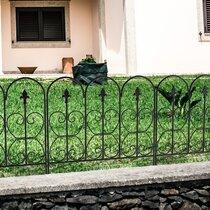 Metal Garden Edging Fence Path Driveway Border Lawn Edge Heart Fleur de Lis Iron