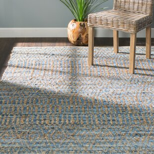 Bernd Hand Knotted Natural Blue Area Rug