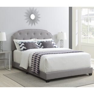 Elora Nailhead Trimmed Upholstered Panel Bed