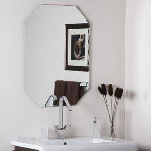 Wrought Studio Logan Frameless Olivia Wall Mirror