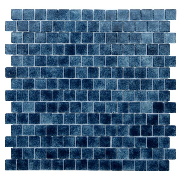 Kellani Quartz 075 X 0 75 Gl Mosaic Tile In Dark Blue