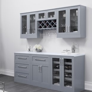 NewAge Products Home Series Shaker Style Back Bar with Wine Storage