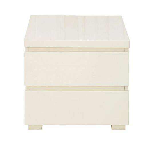Nachttisch Poetae mit 2 Schubladen | Schlafzimmer > Nachttische | Hochglanz | All Home