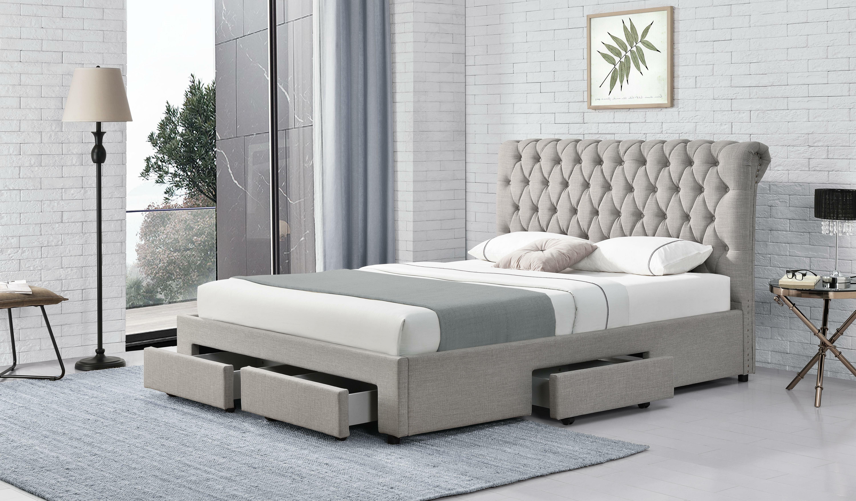 Red Barrel Studio Darabont Tufted Upholstered Low Profile Storage Bed Reviews