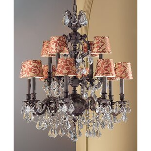 Classic Lighting Chateau Imperial 12-Light Shaded Chandelier