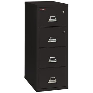 FireKing Legal Safe-In-A-File Fireproof 4-Drawer Vertical File Cabinet