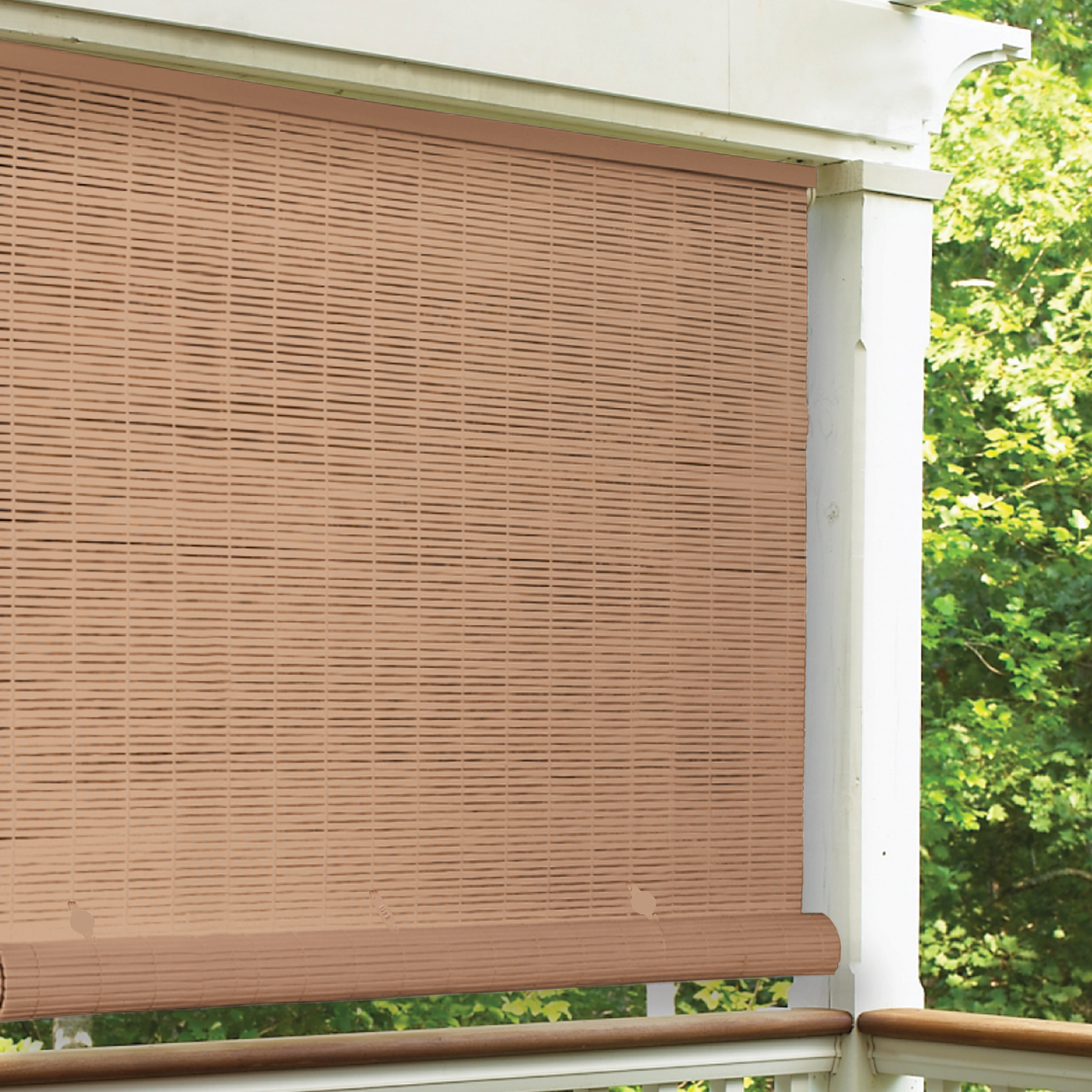 Cord Free Semi Sheer Outdoor Roll Up