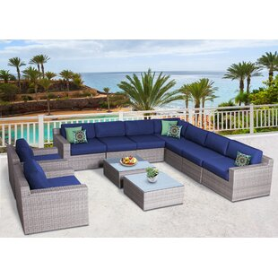 Campa Olefin 11 Piece Conversation Set with Cushions