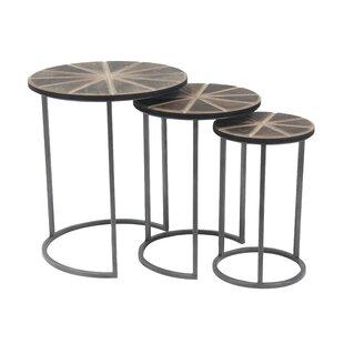 Crossett 3 Piece Nesting Tables by Brayden Studio