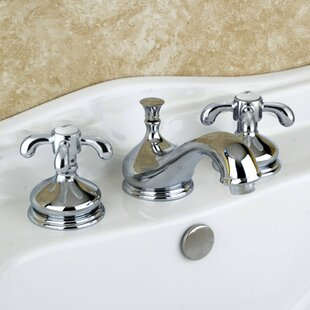 Kingston Brass French Country Widespread Bathroom Faucet with Brass Pop-Up Drain