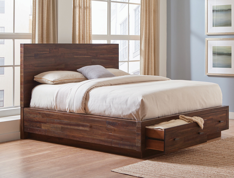 Loon Peak Clemente Solid Wood Low Profile Storage Platform Bed Wayfair
