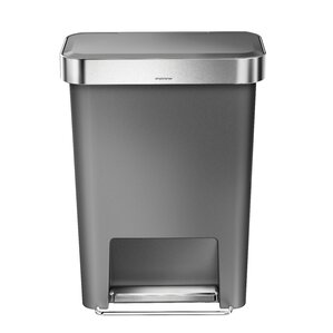 Delightful Stainless Steel 11.9 Gallon Step On Trash Can