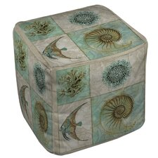 Sea Life 2 Ottoman by Manual Woodworkers & Weavers