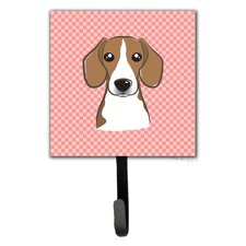 Checkerboard Beagle Leash Holder and Wall Hook by Caroline's Treasures