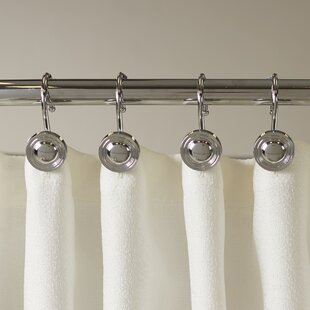 Gladys Button Shower Curtain Hooks (Set of 12) By Symple Stuff