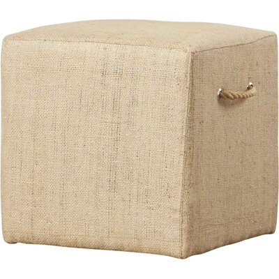 Burntwood Linen Stool by August Grove