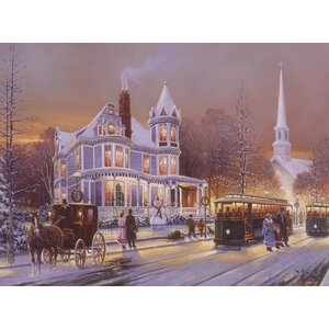 Christmas in the City by Keith Brown Painting Print on Wrapped Canvas