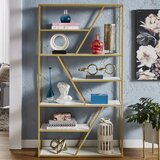 Kennesaw 70.9'' H x 39.4'' W Metal Etagere Bookcase by Mercer41