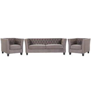 Kilding 3 Piece Sofa Set By Rosalind Wheeler