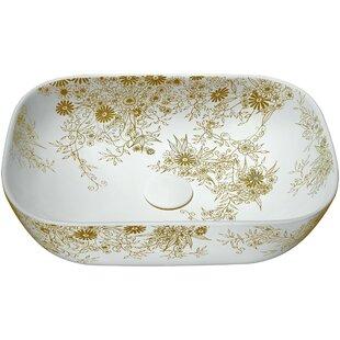 ANZZI Breeze Vitreous China Oval Vessel Bathroom Sink
