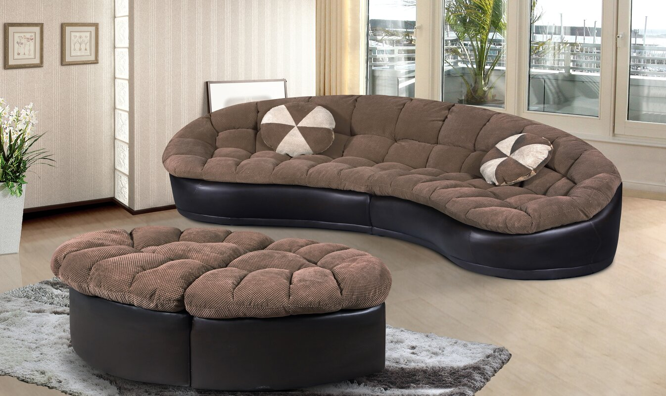 Maynard Sectional with Ottoman