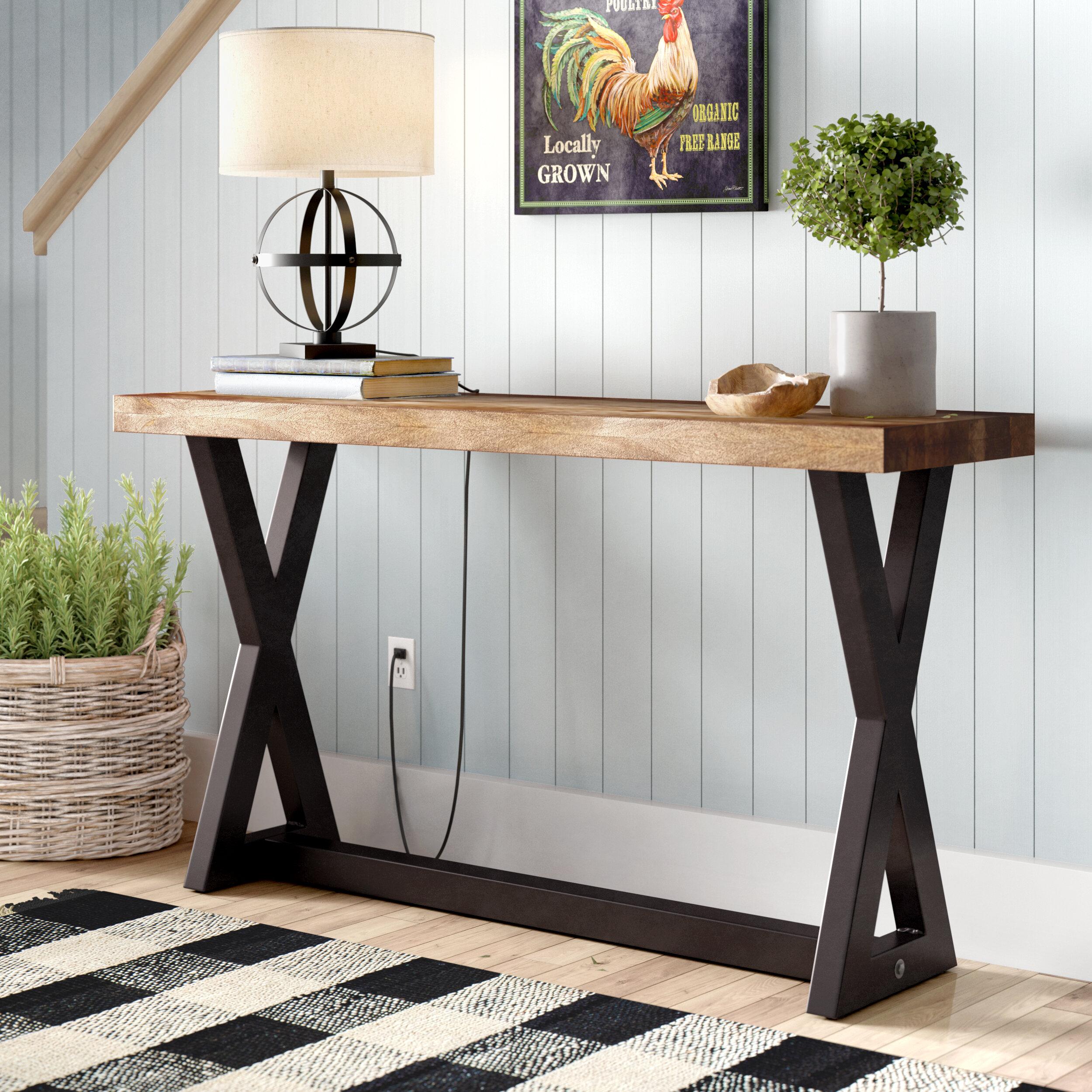 Black X & Cross Leg Console Tables You\'ll Love in 2019 | Wayfair