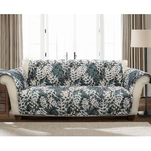 Caballero Leaves Box Cushion Sofa Slipcover by Millwood Pines
