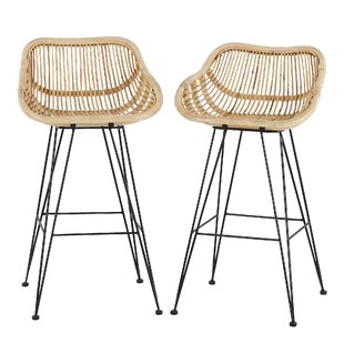 Sutter 86cm Bar Stool (Set Of 2) By Bay Isle Home