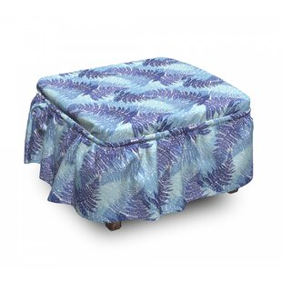 Winter Compoisition Fern Ottoman Slipcover (Set Of 2) By East Urban Home