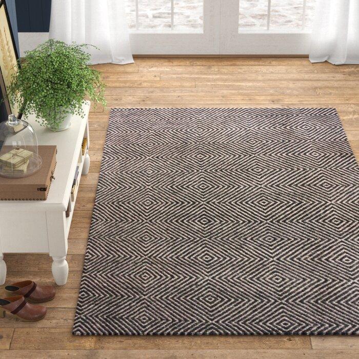 Marcelo Handwoven Flatweave Wool Black Area Rug