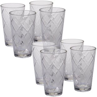 Diamond 20 oz. Acrylic Drinking Glass (Set of 8)