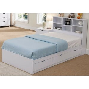 Divito Sophisticated Snow Twin Platform Bed with 3 Drawer Chest by Latitude Run