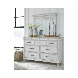 Ophelia & Co. Conard 7 Drawer Double Dresser with Mirror
