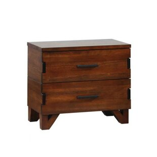 Dowell 2 Drawers Nightstand