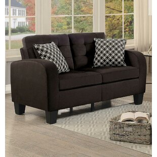 Wednesday Contemporary fabric Loveseat by Ebern Designs
