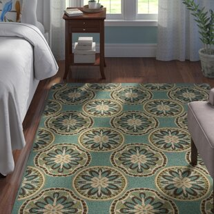 Brendel Blue/Ivory Indoor/Outdoor Area Rug