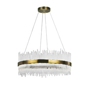 Genevieve 1-Light LED Crystal Pendant by CWI Lighting