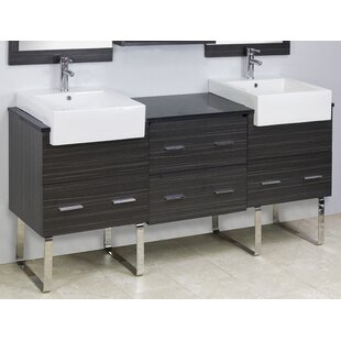 72 Double Modern Bathroom Vanity Set